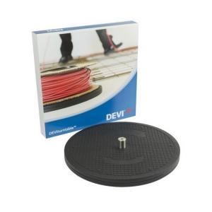 DEVI Turntable — подставка для разматывания катушки кабеля. Ускоряет и облегчает монтаж кабелей на больших площадях обогрева.