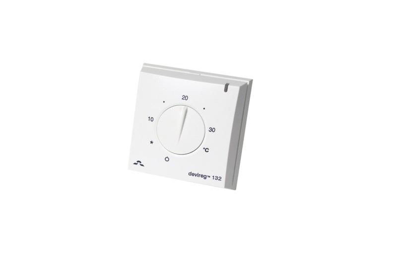 Электронный терморегулятор DEVIreg 132 – для управления системами отопления, поддержания заданной температуры воздуха в помещении.