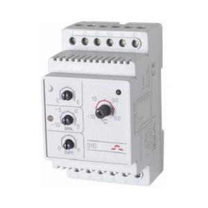 Электронный терморегулятор DEVIreg 316 представляет собой устройство, разработанное для крепления на шину DIN.