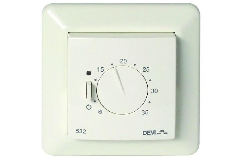 Электронный терморегулятор DEVIreg 532 предназначен для систем полного отопления.