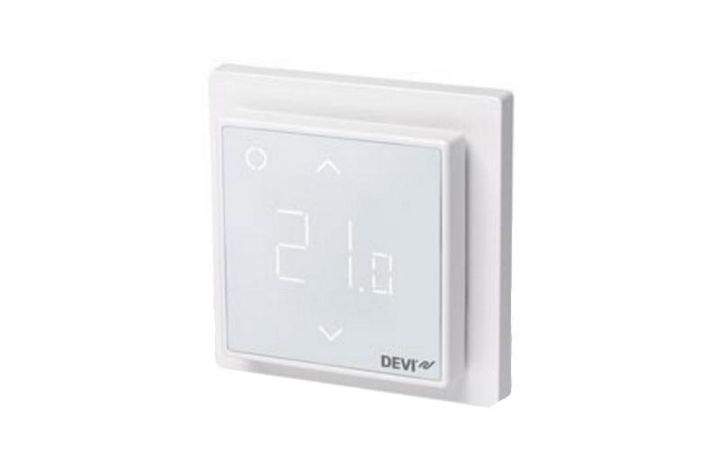 Терморегулятор DEVIreg Smart с сенсорным экраном, модулем WiFi, интеллектуальным таймером.