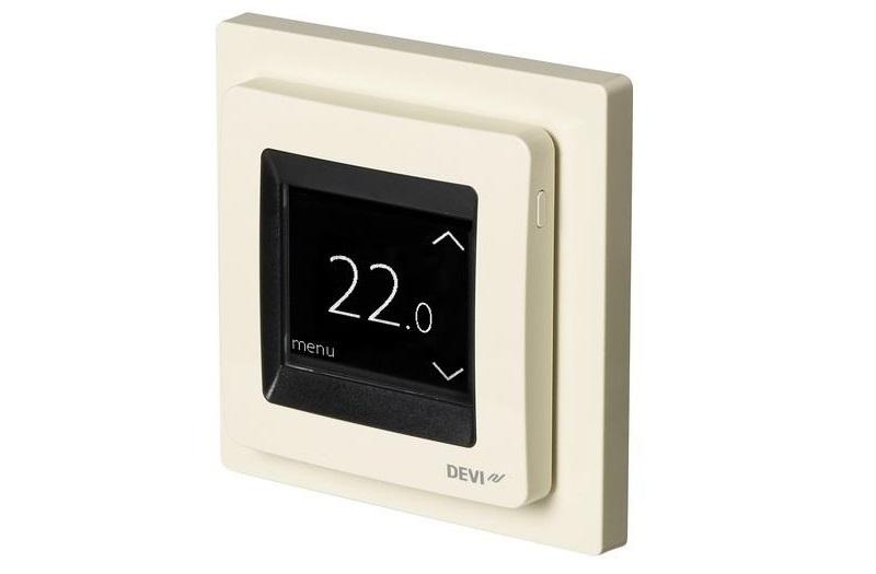 Терморегулятор с сенсорным экраном и интеллектуальным таймером DEVIreg Touch, очень удобен в эксплуатации.