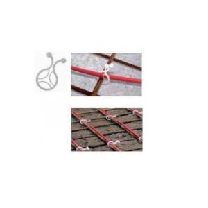 DEVIclip Twist — пластиковый зажим для крепления кабеля к армирующей сетке.