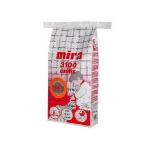 Mira 3100 unifix серый клей для плитки на основе цемента, усиленный полимерами, для укладки на стабильные основания.