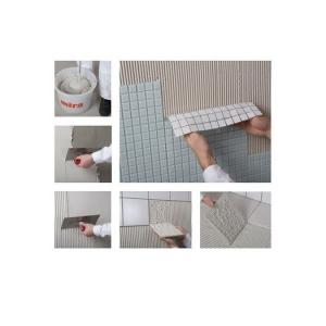 Усиленный полимерами белый клей для укладки плитки на пол и стены Mira 3130 superfix.