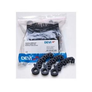 Крепеж - DEVIclip Gutter (DEVIgut) — крепление пластиковое с осью вращения, для монтажа кабеля в желобах.