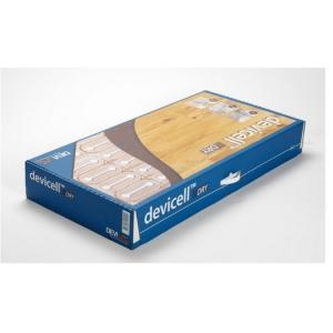 DEVIcell – монтажные пластины с теплоизолятором - для установки нагревательного кабеля сухим способом под деревянную или ламинированную доску.