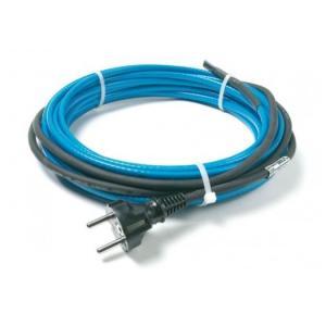 DEVIpipeheat 10T — саморегулирующийся нагревательный кабель с возможностью установки в трубу, с холодным концом и с вилкой.