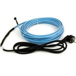 DEVIpipeheat 10T — саморегулирующийся нагревательный кабель с установленным соединительным проводом с вилкой. Для обогрева труб.