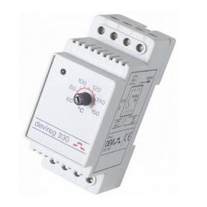 Электронный терморегулятор DEVIreg 330 +60 гр. C / +160 гр. C, применяется для установки в щит на профиль DIN.