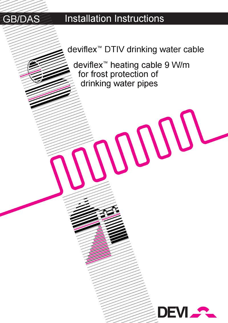 Инструкция по установке нагревательного кабеля DEVIaqua™ 9T (DTIV-9, англ)
