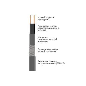 FSLe саморегулирующийся нагревательный кабель