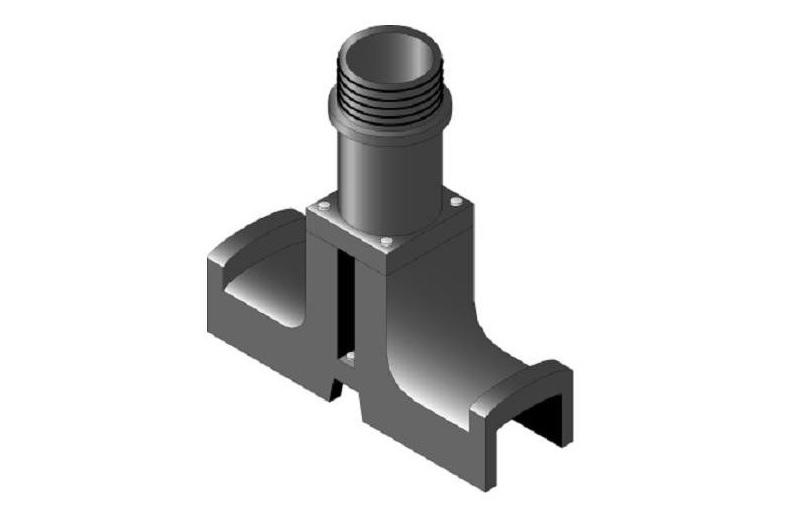 Стойка DESTU ввода нагревательного кабеля под теплоизолятор