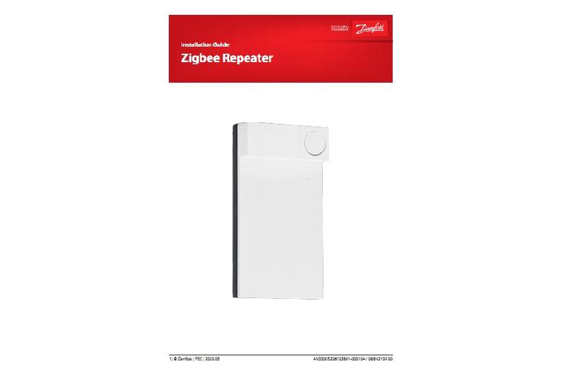 Инструкция на повторитель Danfoss Zigbee Repeater